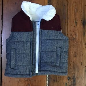 Old Navy tweed and cord vest